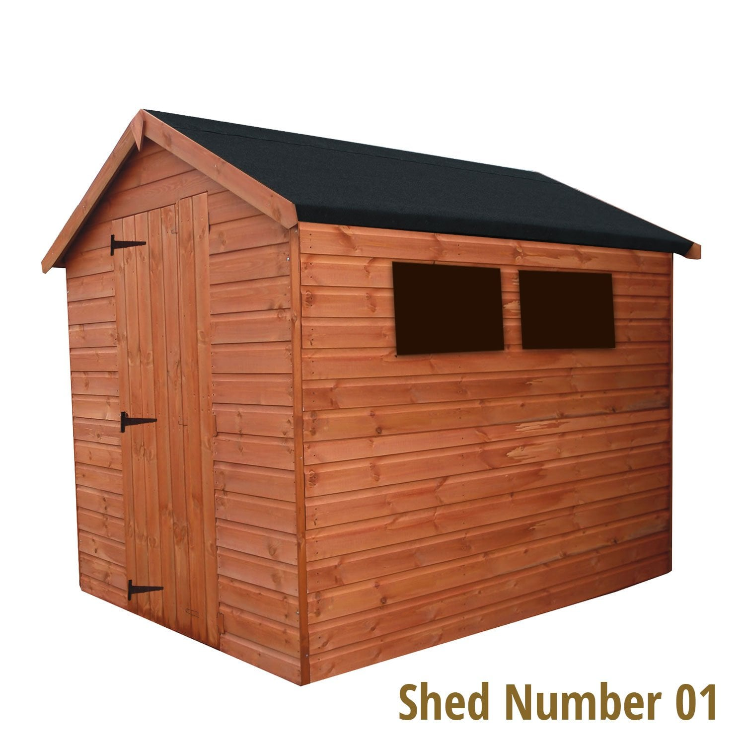 01 apex large windows gable door left left hinged for Very small garden sheds